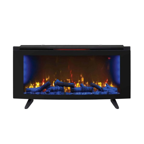 "Wall-Mounted Infrared Electric Fireplace Heater 42"" with Stand + Remote Control 4"