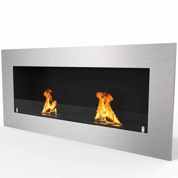 """Warren 42"""" PRO Ventless Built In Wall Recessed Bio Ethanol Wall Mounted Fireplace Similar Electric Fireplace 1"""
