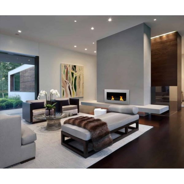 """Warren 42"""" PRO Ventless Built In Wall Recessed Bio Ethanol Wall Mounted Fireplace Similar Electric Fireplace 2"""