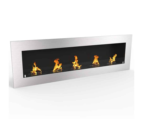 "Warren 72"" PRO Ventless Built In Wall Recessed Bio Ethanol Wall Mounted Fireplace Similar Electric Fireplace 1"