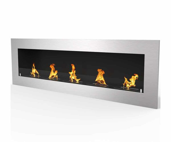 "Warren 72"" PRO Ventless Built In Wall Recessed Bio Ethanol Wall Mounted Fireplace Similar Electric Fireplace 2"