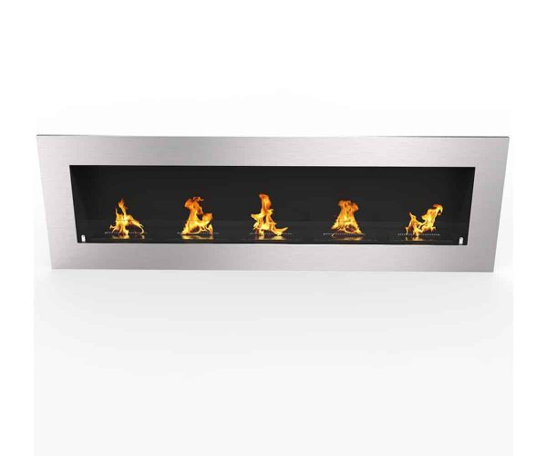 "Warren 72"" PRO Ventless Built In Wall Recessed Bio Ethanol Wall Mounted Fireplace Similar Electric Fireplace 3"