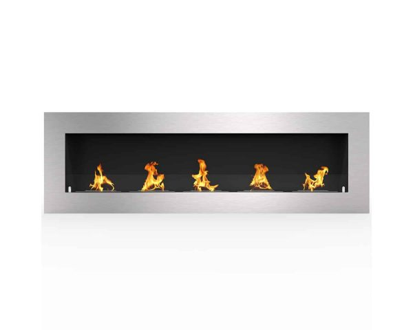 "Warren 72"" PRO Ventless Built In Wall Recessed Bio Ethanol Wall Mounted Fireplace Similar Electric Fireplace"