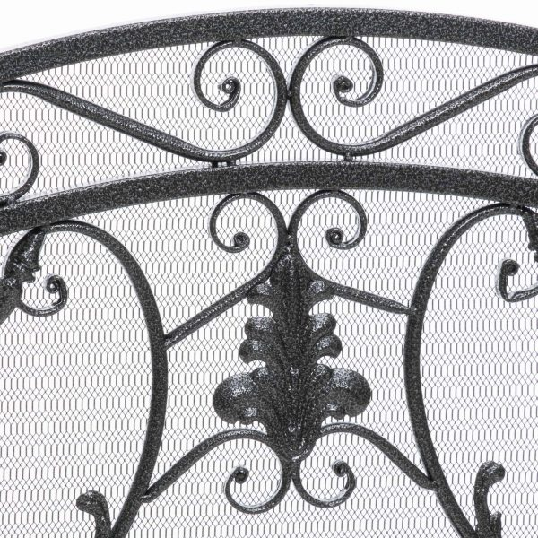 Waters Fireplace Screen, Silver 2