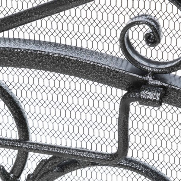 Waters Fireplace Screen, Silver 3