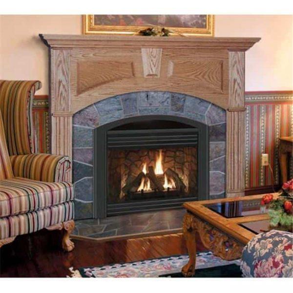 Wellington A Flush Fireplace Mantel in Light Natural