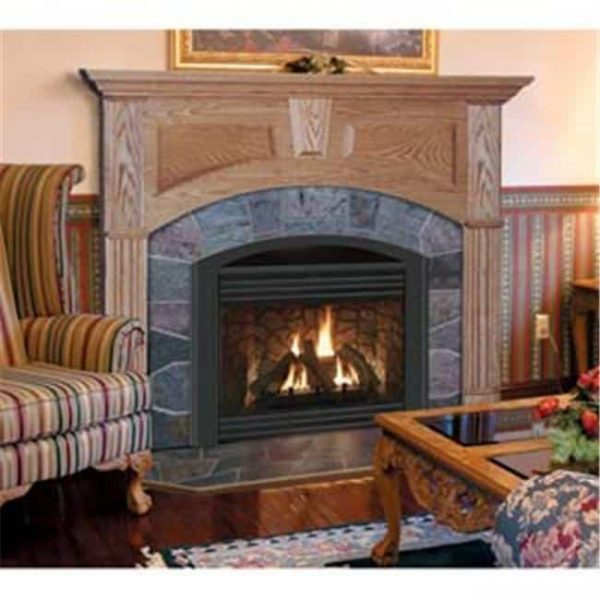 Wellington A Flush Fireplace Mantel in Light Natural Finish