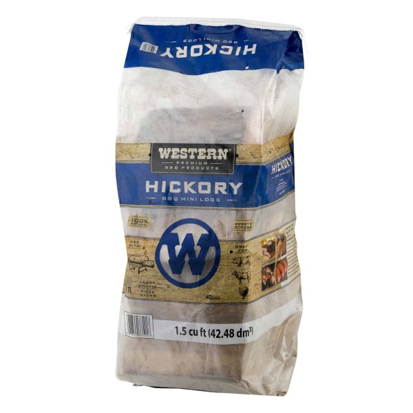Western Premium BBQ Products Hickory BBQ Mini Logs, 1.5 cu ft 1