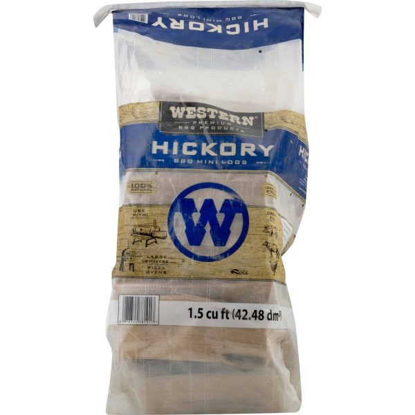 Western Premium BBQ Products Hickory BBQ Mini Logs, 1.5 cu ft 2