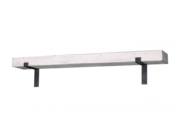 White Industrial Mantel Shelf 2