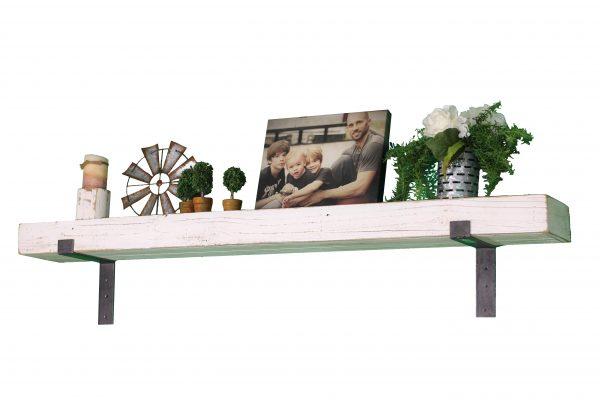 White Industrial Mantel Shelf