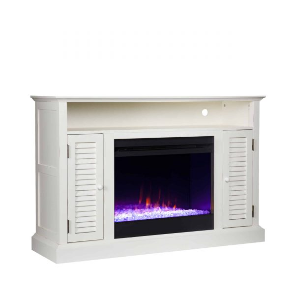 Wiltshire Color Changing Media Fireplace w/ Storage 1