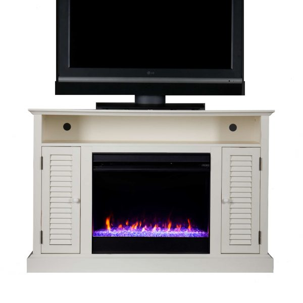 Wiltshire Color Changing Media Fireplace w/ Storage 11