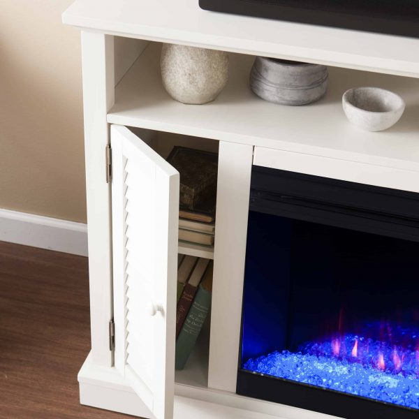 Wiltshire Color Changing Media Fireplace w/ Storage 12