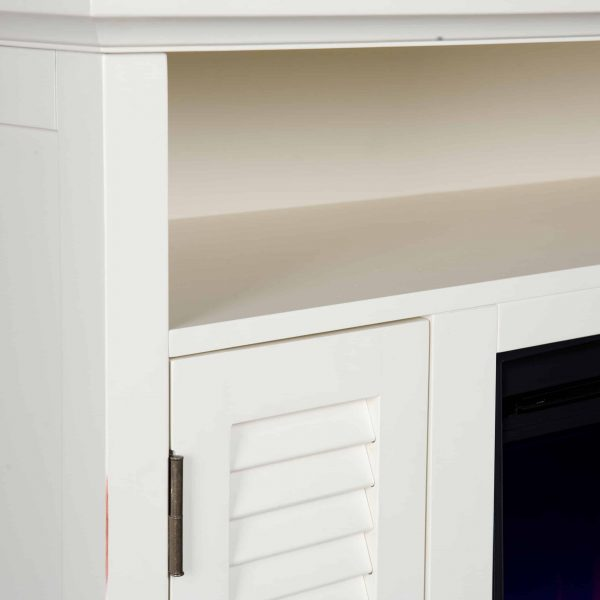Wiltshire Color Changing Media Fireplace w/ Storage 2