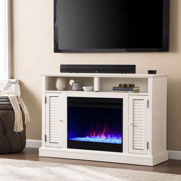 Wiltshire Color Changing Media Fireplace w/ Storage 3