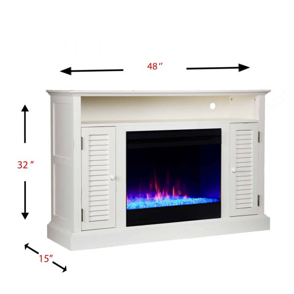 Wiltshire Color Changing Media Fireplace w/ Storage 4