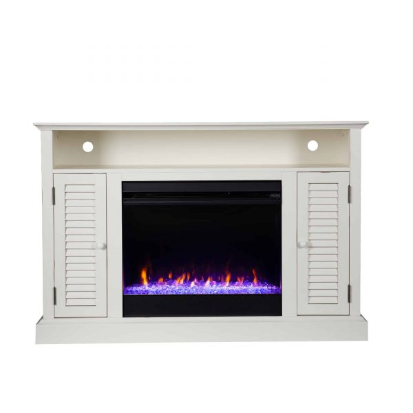 Wiltshire Color Changing Media Fireplace w/ Storage 9