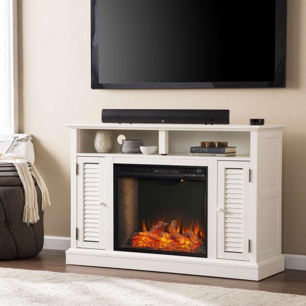 Wiltshire Smart Media Fireplace w/ Storage 9