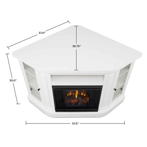 Windom Electric Corner Fireplace by Real Flame 5