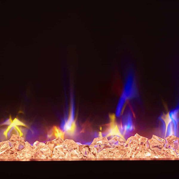 "Winslow 36"" Wall-mount/Tabletop Linear Fireplace by C3 2"