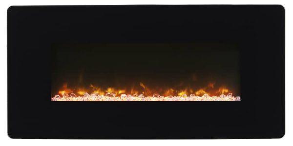 "Winslow 36"" Wall-mount/Tabletop Linear Fireplace by C3 7"