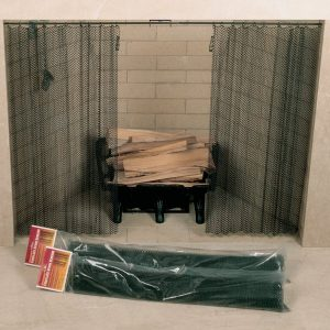 """Woodfield 61084 48"""" Wide x 26"""" High Hanging Fireplace Spark Screen without Hanging Rod"""