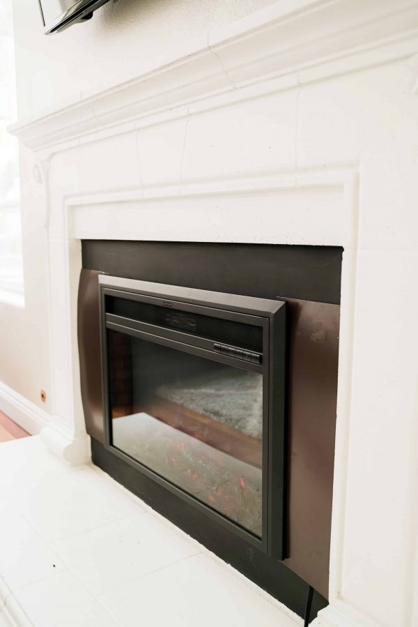 XBrand Insert Fireplace Heater w/Remote Control and LED Flame Effect, 28 Inch Long, Black 1