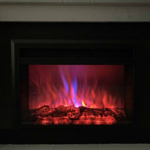 XBrand Insert Fireplace Heater w/Remote Control and LED Flame Effect