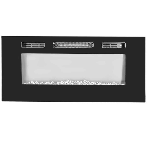 "XtremepowerUS 40"" In-Wall Recessed Electric Fireplace Heater with Remote Control, 1500W 1"