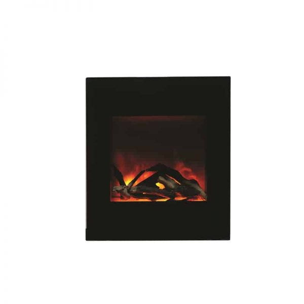 ZECL electric fireplace with Black Glass surround 15 pce. Log set 1