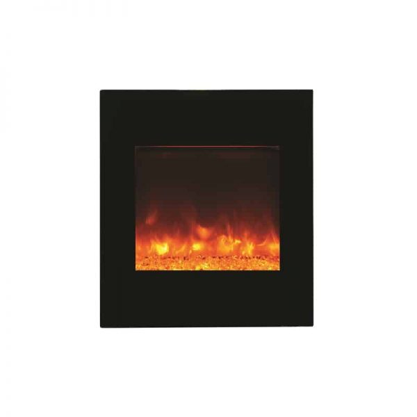 ZECL electric fireplace with Black Glass surround 15 pce. Log set 3