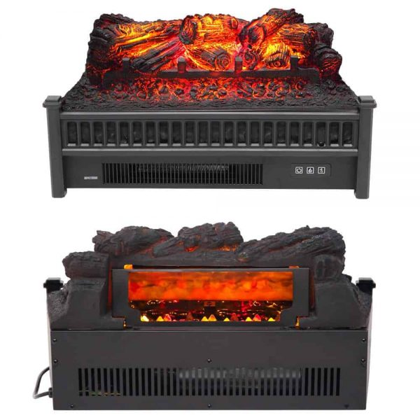 "ZOKOP 23"" 1400W Electric Fireplace Logs Heater FreeStanding Fire Flame Stove 1"