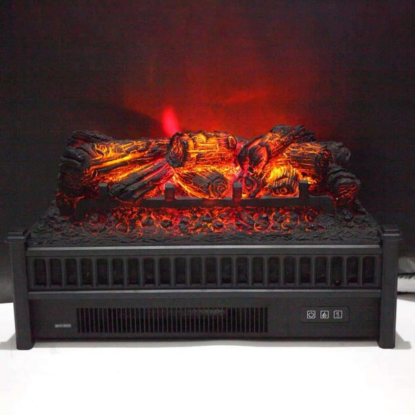 "ZOKOP 23"" Electric Fireplace Log Insert Heater with Ember Bed & Remote Controller, Black 5"