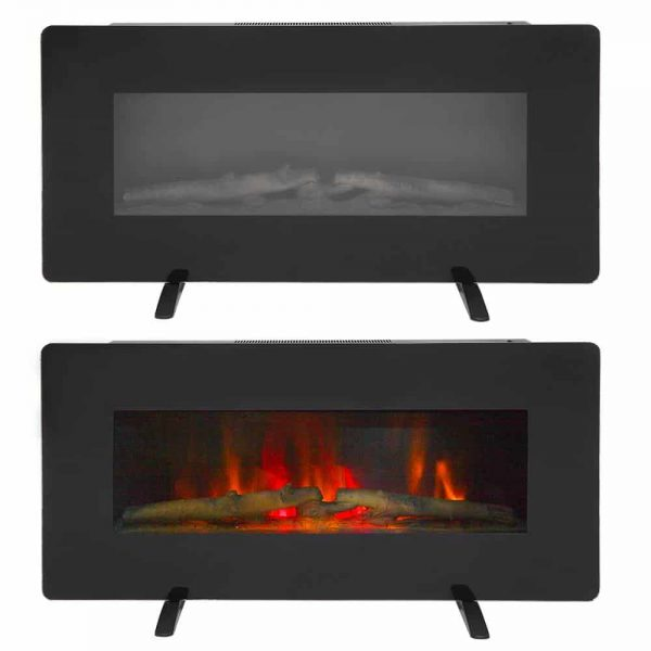 "ZOKOP 36"" 1400W Electric Wall Mounted Smokeless Ventless Fireplace Heater w/Remote Control"