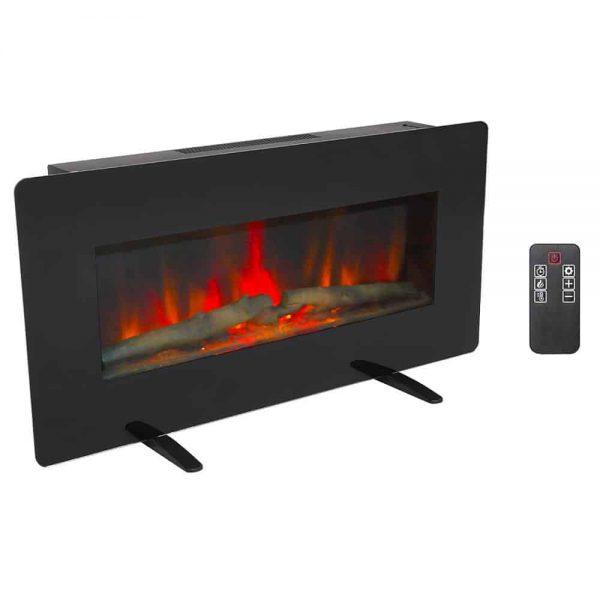 "ZOKOP 36"" Adjustable Indoor Electric Wall Mounted Fireplace Heater"