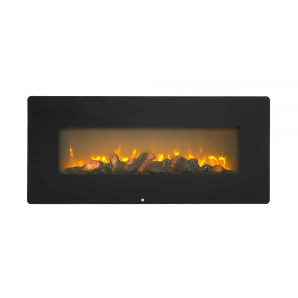ZOKOP SF310-42AX 1400W Wall Hanging / Fireplace Single Color / Fake Wood / Heating Wire / With Small Remote Control,42 Inch Black 2