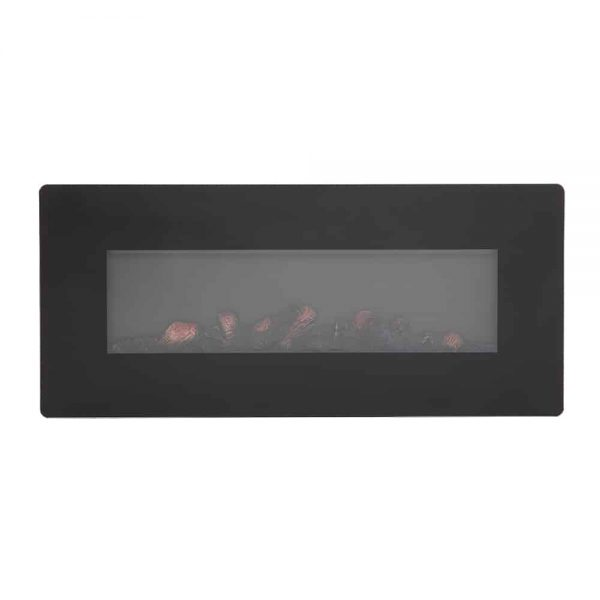 ZOKOP SF310-42AX 1400W Wall Hanging / Fireplace Single Color / Fake Wood / Heating Wire / With Small Remote Control,42 Inch Black 3