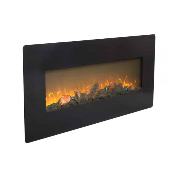 ZOKOP SF310-42AX 1400W Wall Hanging / Fireplace Single Color / Fake Wood / Heating Wire / With Small Remote Control,42 Inch Black 6