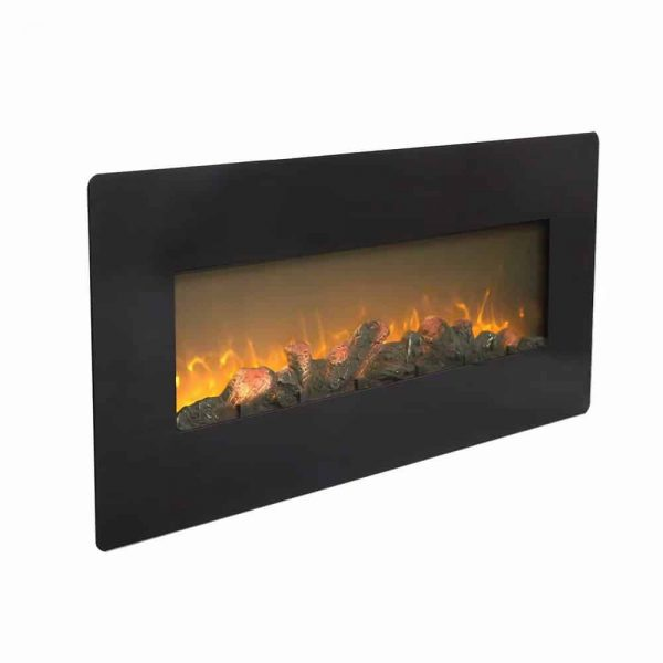 ZOKOP SF310-42AX 42 Inch 1400W Wall Hanging / Fireplace Single Color / Fake Wood / Heating Wire / With Small Remote Control Black 2