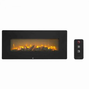 ZOKOP SF310-42AX 42 Inch 1400W Wall Hanging / Fireplace Single Color / Fake Wood / Heating Wire / With Small Remote Control Black