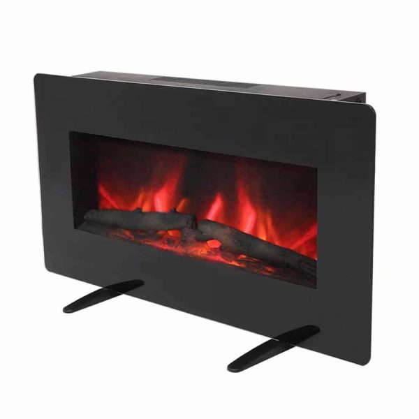 ZOKOP SF311-36G 36 Inch 1400W Wall Hanging / Fireplace Single Color / Fake Wood / Heating Wire / With Small Remote Control Black 1