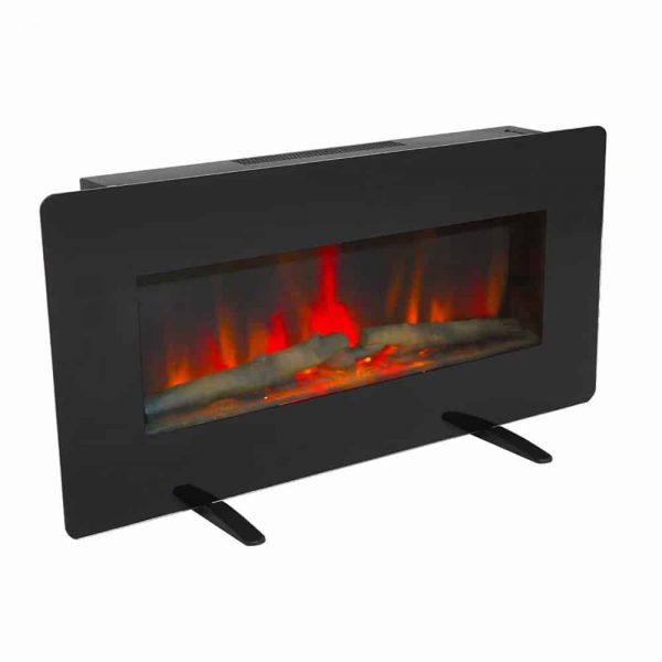 ZOKOP SF311-36G 36 Inch 1400W Wall Hanging / Fireplace Single Color / Fake Wood / Heating Wire / With Small Remote Control Black 2