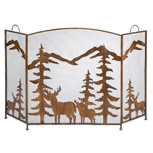 Zingz & Thingz 57070263 Rustic Forest Fireplace Screen