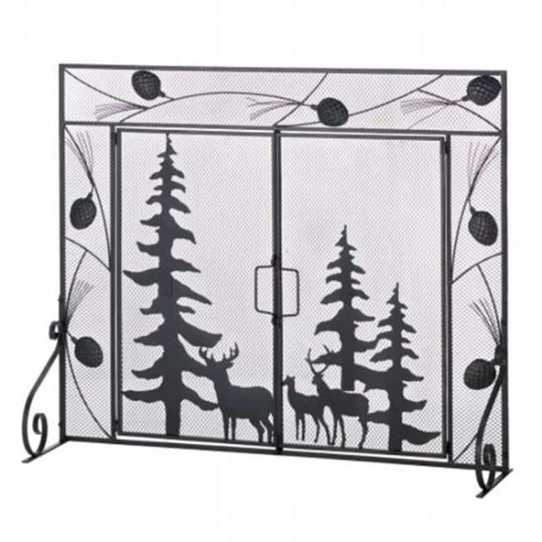 Zingz & Thingz 57071351 Pine Forest Fireplace Screen