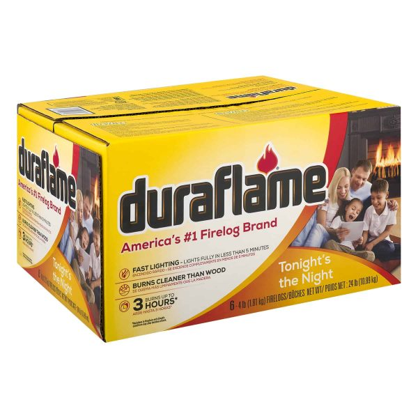 duraflame® 6pk 4lb 3-hr Firelog 1