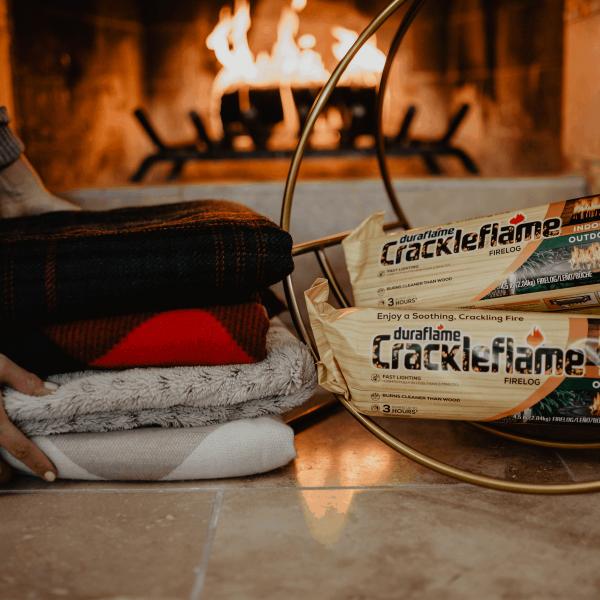 duraflame® Crackleflame® 4.5lb 3-hr Indoor/ Outdoor Firelog - 4-pack 5