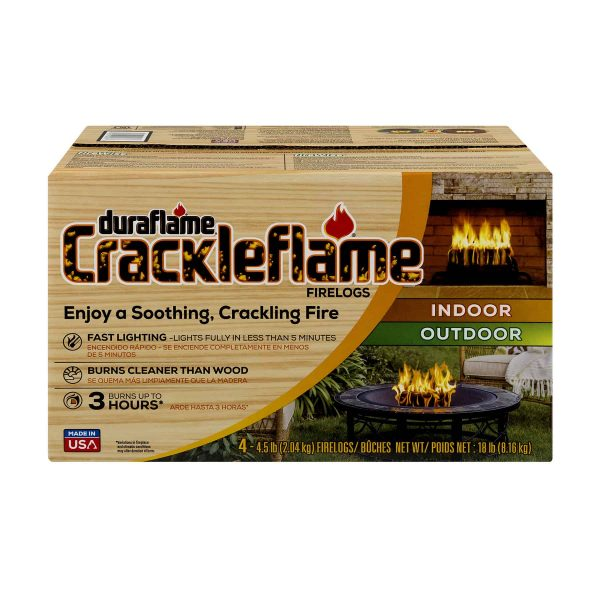 duraflame® Crackleflame® 4.5lb 3-hr Indoor/ Outdoor Firelog - 4-pack