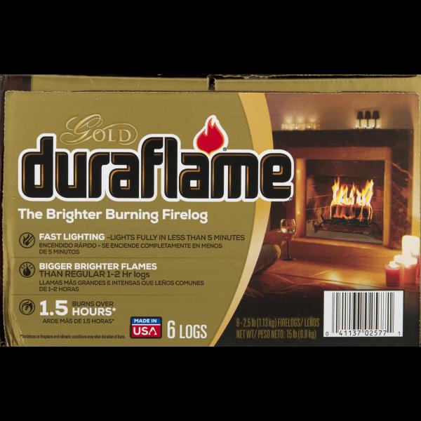duraflame® The Brighter Burning Firelog Gold, 2.5 LB 4
