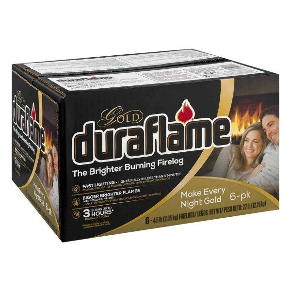 duraflame Gold Ultra Premium 4.5lb 3-hr Firelog 6 pack case 2